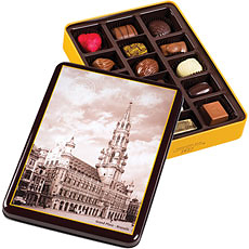 Tin Box Grand Place, 16 pcs