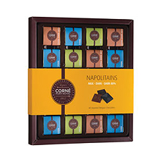 Napolitains Milk/Dark/Dark 88%, 180 g, 40 chocolate pieces