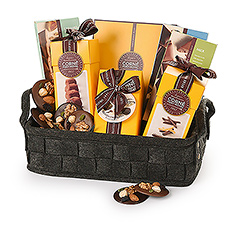 Un panier incontournable pour le véritable amant de truffes, de tablettes, de pralines, et bien plus des chocolats Corné Port-Royal. Parfait pour les amis, la famille et les collègues.
