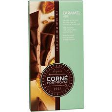Tablet Melkchocolade Caramel Stukjes, 90 g, per 5 st.