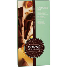Tablet Milk Chocolate With Caramel Nibs, 90 g, sold by 5 pcs