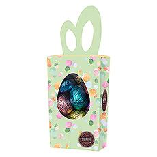 Comme elle est attractive cette boîte aux oreilles de lapin, remplie de 15 oeufs de Pâques délicieux !