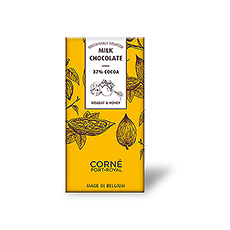 Tablette Chocolat Au Lait 37%, Au Nougat Et Miel, 70 g, par 5 pcs