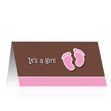 Es ist ein Mädchen-Karte