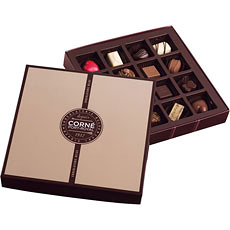 Corné Port-Royal Square Chocolate Box, 220 g - 16 pcs