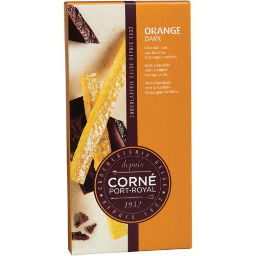 Tafel dunkler Schokolade mit Orange, 90 g, per 5 Stück