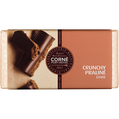 Tablet Dark Crunchy Praliné, 125 g, sold by 5 pcs