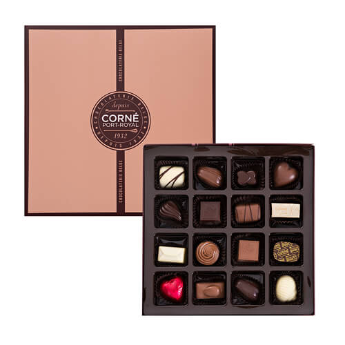 Corné Port-Royal Quadrat Box 220 g, 16 Pralinen