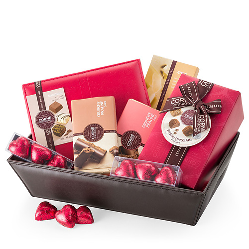 Corné Port-Royal Chocolate Gift Basket with Belgian Chocolates