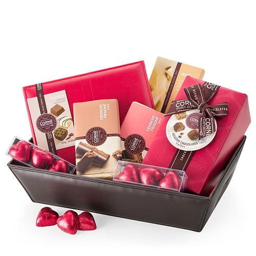 Corné Port-Royal Geschenkkorb mit Belgischer Schokolade