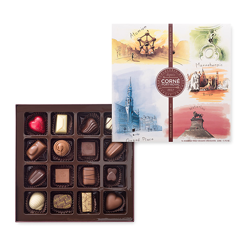 Corné Port-Royal Tourist Belgium Giftbox, 16 pcs