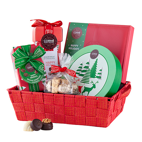 Corné Port-Royal Red Christmas Basket