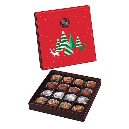Corné Port-Royal Boîte Cadeau Truffes de Noël, 16 pcs