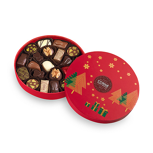 Corné Port-Royal Round Christmas Box, 21 pcs