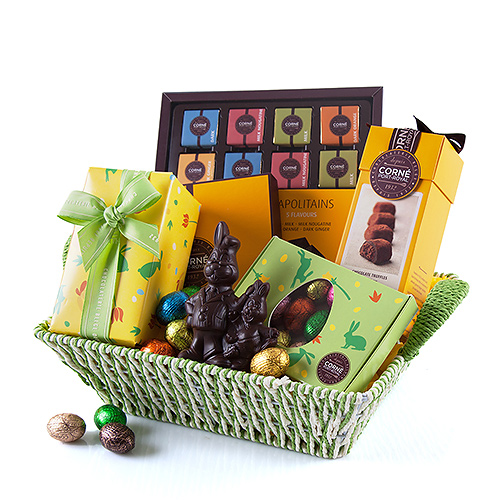 Corné Port-Royal Green Gift Basket Chocolate Easter