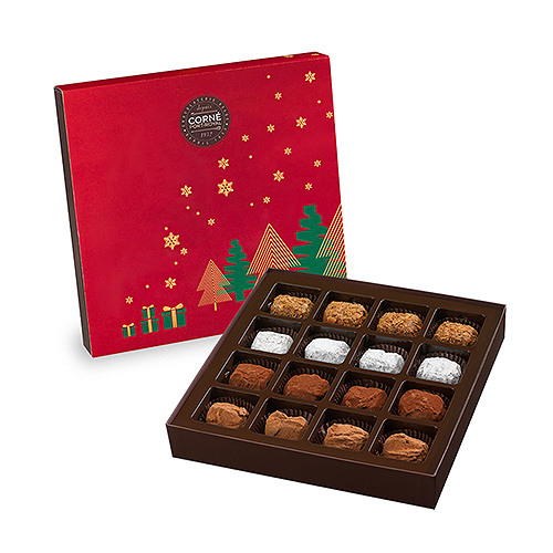 Corné Port-Royal 2019 Geschenkdoos Kersttruffels, 16 st