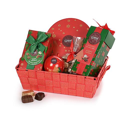 Corné Port-Royal Panier-Cadeau de Noël Rouge & Doré
