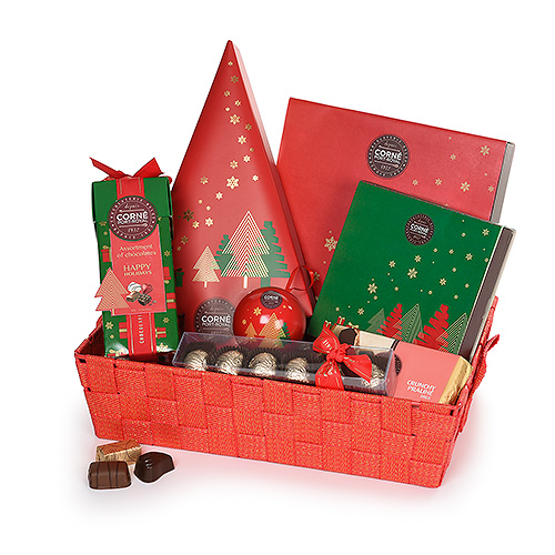Corné Port-Royal Christmas 2019 : Large Red & Gold XMAS Hamper