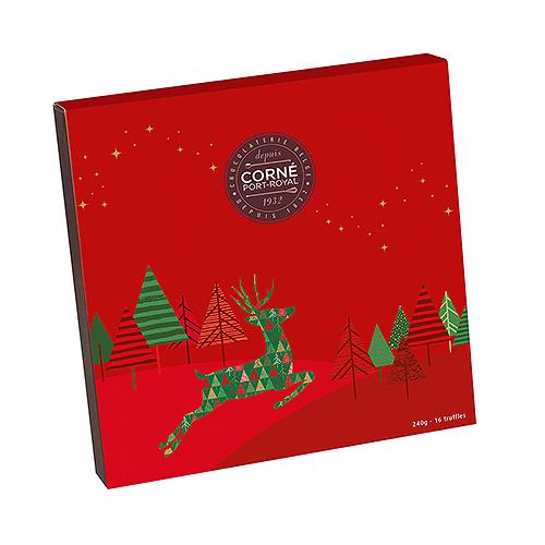 Corné Port-Royal Boîte Cadeau Truffes de Noël 2020, 16 pcs