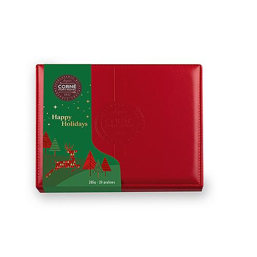 Corné Port-Royal Christmas 2020 : Leather Box, 285 g | 20 pcs
