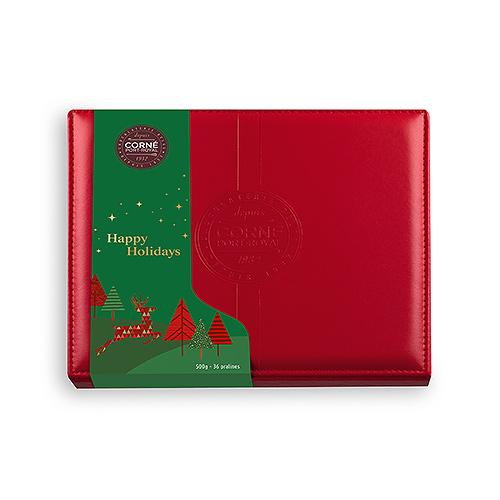 Corné Port-Royal Christmas 2020 : Leather Box, 500 g | 36 pcs