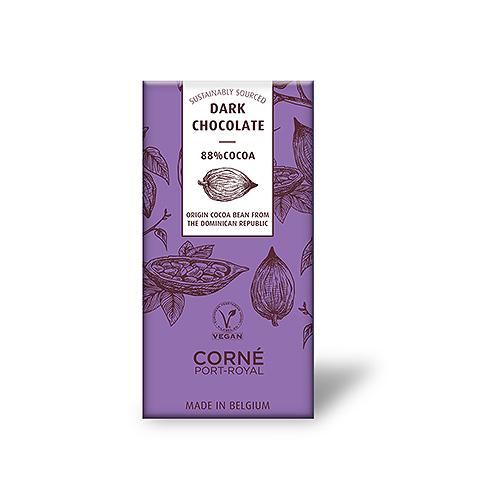Tablette Chocolat Noir 88%, Chocolat D'Origine De La Republique Dominicaine, 70 g, par 5 pcs