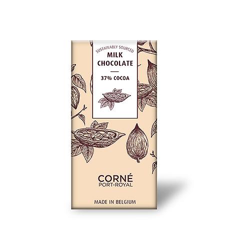 Tablet Melkchocolade 37%, 70 g, per 5 st.