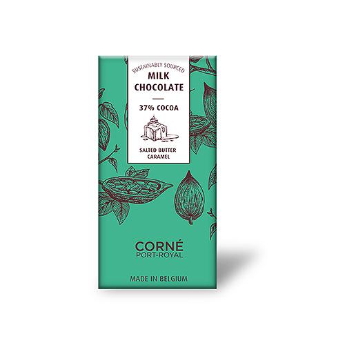 Tablet Melkchocolade 37%, Gezouten Boter Karamel, 70 g, per 5 st.