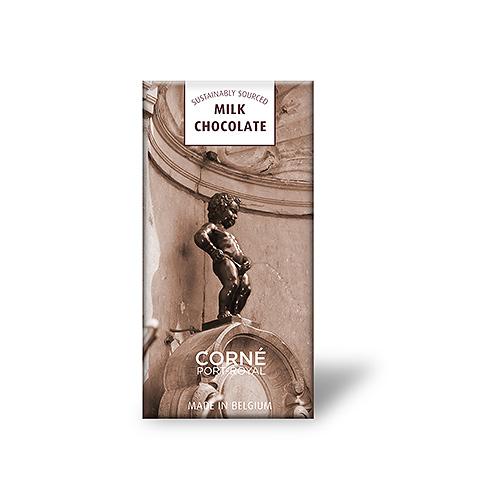 Manneken Pis Tablet Melkchocolade 37%, 70 g, per 5 st.