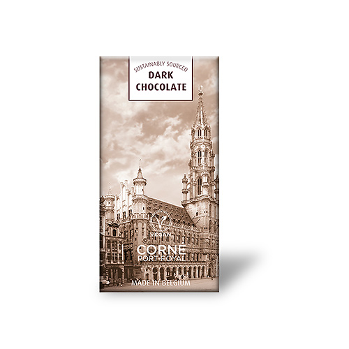 Grand Place Tablet Pure Chocolade 60%, 70 g, per 5 st.