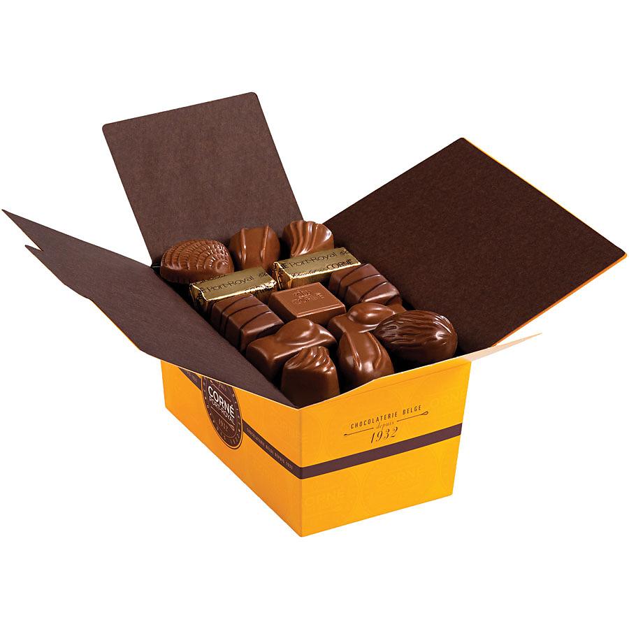 corn port royal ballotins chocolat au lait livraison en belgique corn port royal chocolatier. Black Bedroom Furniture Sets. Home Design Ideas