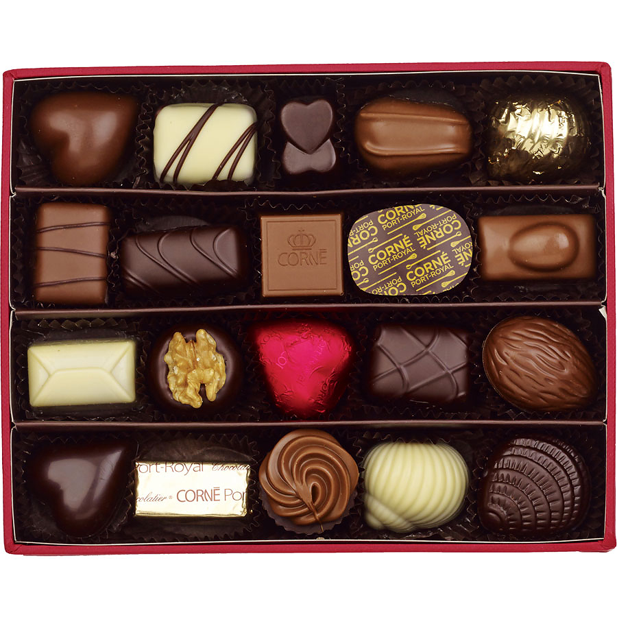Corné Port Royal Red Leather Box 285 G 20 Chocolates Without