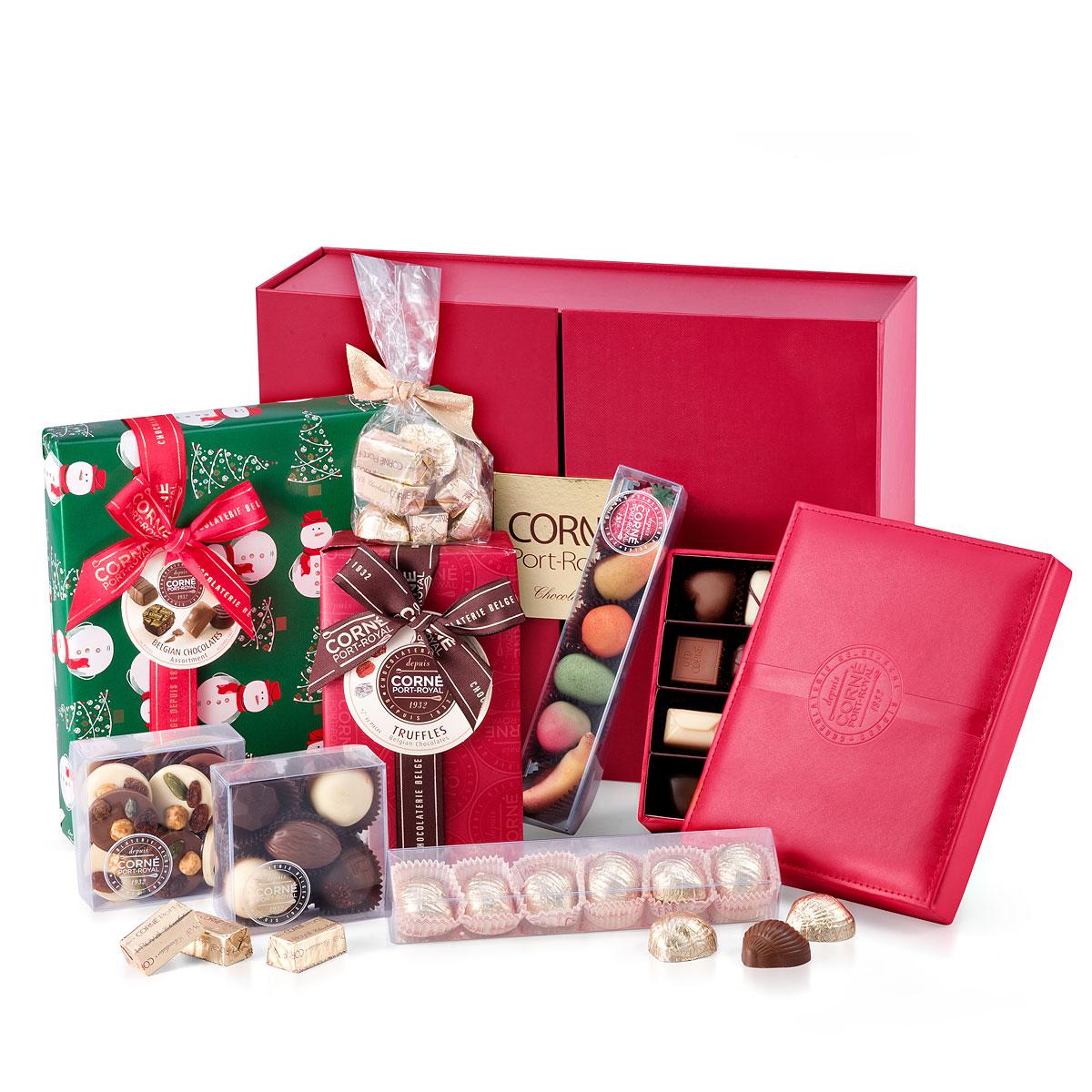 Chocolade Kerstgeschenkmand