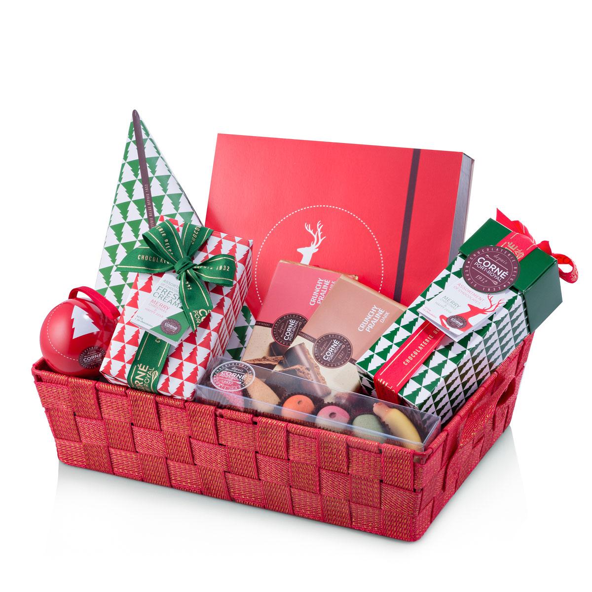 Corné Port-Royal Geschenkkorb zu Weihnachten mit Schokolade ...